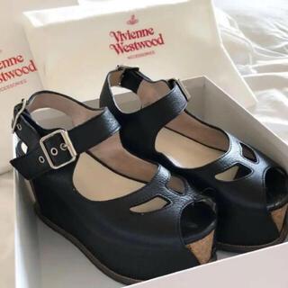 Vivienne Westwood - Vivienne Westwood コルク サンダル ブラック 厚底