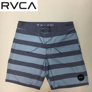 RVCA - ルーカ 水陸両用 ショート ハーフ パンツ ブルー系 ボーダー サイズ30