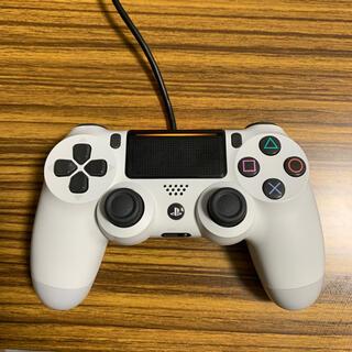プレイステーション4(PlayStation4)の【中古】純正品 プレイステーション4コントローラー グレイシャーホワイト(その他)