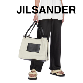 Jil Sander - JILSANDERジルサンダーORIGAMIレザーキャンバストートバッグ新品