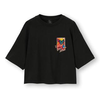GU - 新品 GU 蜷川実花 コラボ Tシャツ 黒 M ジーユー