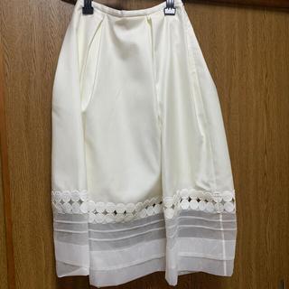 チェスティ(Chesty)のchesty スカート 白 チェスティ 新品(ひざ丈スカート)