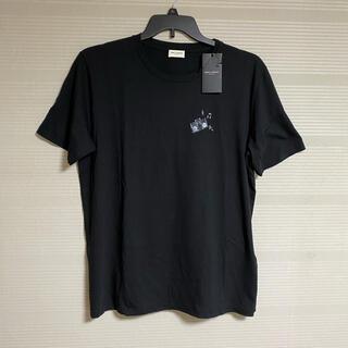 Saint Laurent - 新品 本物 国内正規品 サンローラン メンズ Tシャツ 黒 ロゴ ラジカセ M
