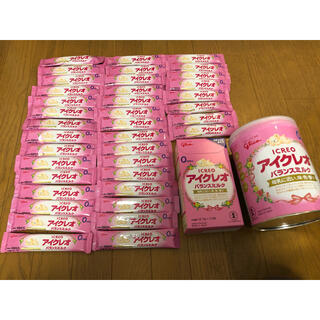 グリコ - アイクレオバランスミルク800g 1缶、スティックミルク48本