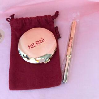 PINK HOUSE - ピンクハウス ノベルティーのミラーと紅筆
