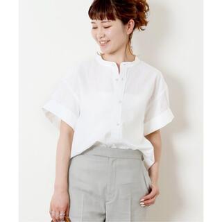 Spick and Span - Spick and Span パールボタンタックスリーブシャツ☆新品 シロ