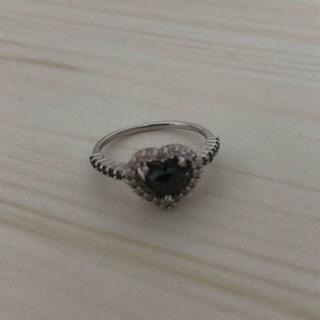 ブラックダイヤ指輪