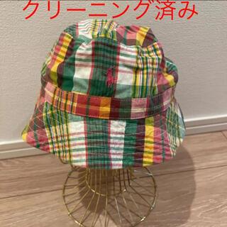 ラルフローレン(Ralph Lauren)のラルフローレン 帽子 チェック 50cm クリーニング済み(帽子)