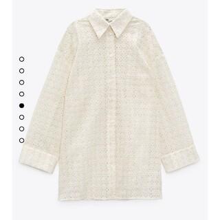 ZARA - ZARA ザラ 今季 カットワーク刺繍オーバーサイズシャツ