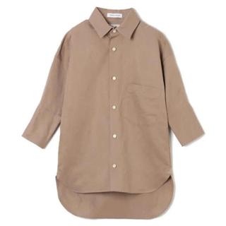 マディソンブルー(MADISONBLUE)のマディソンブルー  カフシャツ リネン コットン ベージュ(シャツ/ブラウス(長袖/七分))