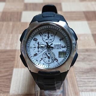カシオ(CASIO)の美品【CASIO/WAVECEPTOR】電波ソーラー メンズ腕時計 クロノグラフ(腕時計(アナログ))