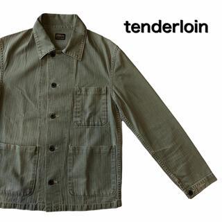 テンダーロイン(TENDERLOIN)のTENDERLOIN テンダーロイン ミリタリージャケット カーキ カバーオール(カバーオール)