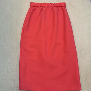 ノーブル(Noble)のNOBLE スカート コーラルオレンジ色(ひざ丈スカート)