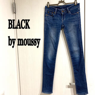BLACK by moussy - ブラックバイマウジー 美品 スキニー デニム BLACK by moussy