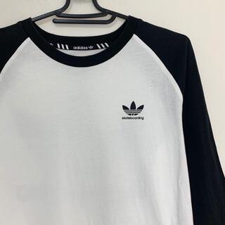 adidas - adidas skateboading 7部丈 Tシャツ ロンT アディダス
