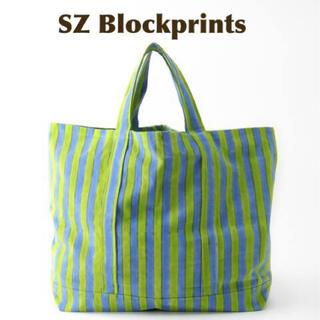 ロンハーマン(Ron Herman)の【SZ Blockprints】OVERSIZE TOTE BAG グリーン(トートバッグ)