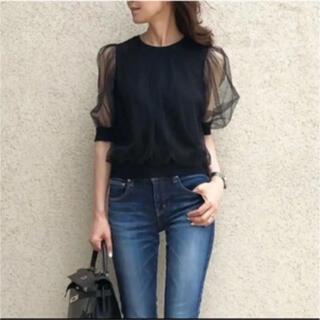 ダブルスタンダードクロージング(DOUBLE STANDARD CLOTHING)のダブルスタンダードクロージング チュールデザインブラウス(シャツ/ブラウス(半袖/袖なし))