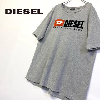 DIESEL - 美品 DIESEL ロゴTシャツ メンズXL グレー