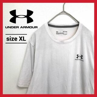 UNDER ARMOUR - 90s 古着 アンダーアーマー Tシャツ オーバーサイズ ワンポイントロゴ XL