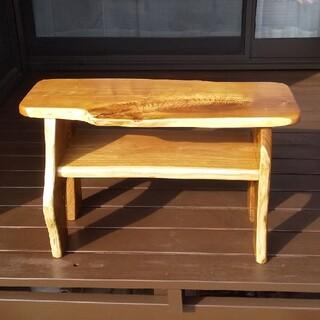 天然木のミニテーブル(テレビ台、飾り台、ベンチ、センターテーブル等にどうぞ)(ローテーブル)