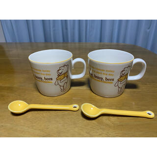 クマノプーサン(くまのプーさん)のくまのプーさん ペアマグカップ スプーン付き ディズニー(グラス/カップ)