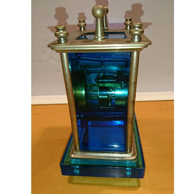 SEIKO(セイコー)の硝子枕   精工舎SEIKOSHAブルーウランガラス置き時計 インテリア/住まい/日用品のインテリア小物(置時計)の商品写真