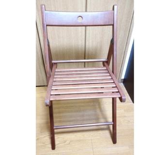 イケア(IKEA)の【未使用】IKEA 折りたたみ椅子 2脚(折り畳みイス)
