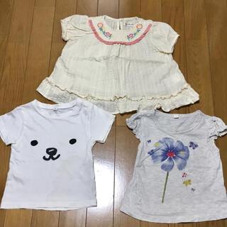 ニシマツヤ(西松屋)の90cm 半袖 トップス3枚セット チュニック Tシャツ(Tシャツ/カットソー)