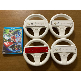 Wii U - マリオカート8   Wiiハンドル Wiiリモコン セット