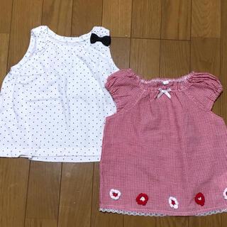 ニシマツヤ(西松屋)のトップス タンクトップ 90cm 2枚セット(Tシャツ/カットソー)