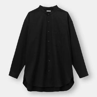 ジーユー(GU)のGUオーバーサイズバンドカラーシャツ(シャツ)
