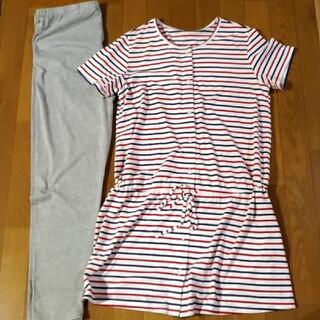 ニシマツヤ(西松屋)の半袖前開きパジャマ 上下(マタニティパジャマ)