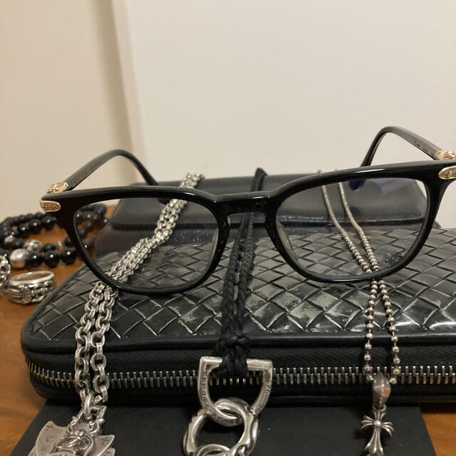 Chrome Hearts(クロムハーツ)のクロムハーツEYEWEAR GISS ゴールド メンズのファッション小物(サングラス/メガネ)の商品写真