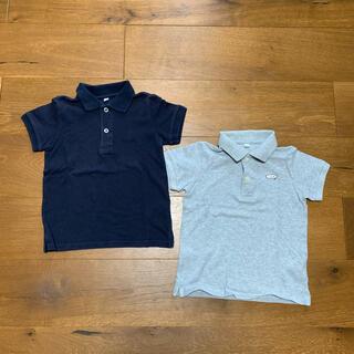 ムジルシリョウヒン(MUJI (無印良品))の無印良品 ネイビー 半袖ポロシャツ 110センチ(Tシャツ/カットソー)