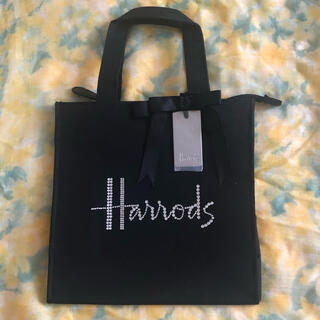 ハロッズ(Harrods)のハロッズ  スワロフスキー  ロゴ  トートバッグ (トートバッグ)