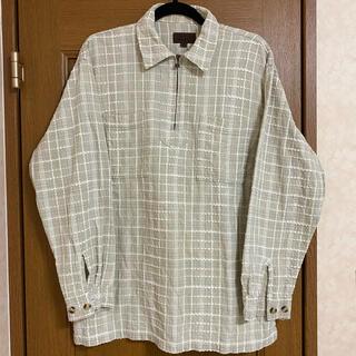 vintage pullover zip shirt