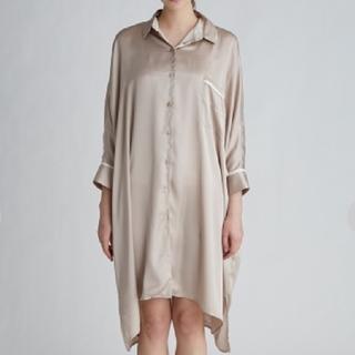 gelato pique - ジェラートピケ  サテンラインシャツドレス