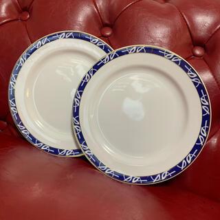 サンローラン(Saint Laurent)の美品 正規品 YSL イヴサンローラン 平皿 丸皿 食器 2枚セット(食器)
