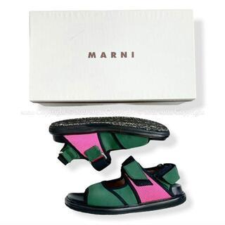 マルニ(Marni)のMARNIマルニ FUSSBETT SANDAL フスベット サンダル 38(サンダル)