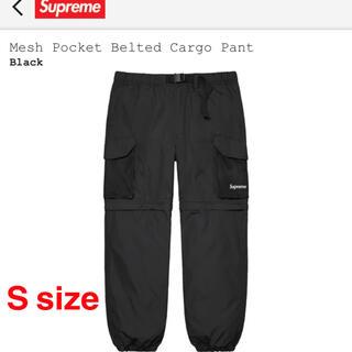 Supreme - 完売★supreme mesh belted cargo pant★黒S