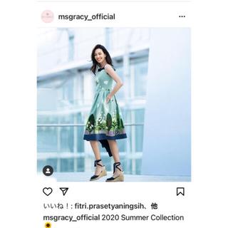 エムズグレイシー(M'S GRACY)のカタログ掲載  新品未使用  M'S GRACY  サマースカート  36(ひざ丈スカート)