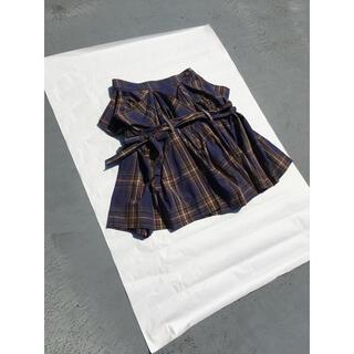 ヴィヴィアンウエストウッド(Vivienne Westwood)の【新品・未使用】Vivienne Westwood 変型 チェックスカート(ひざ丈スカート)
