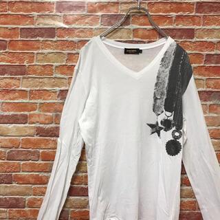 ディーゼル(DIESEL)のディーゼル DIESEL ロンt プリントtシャツ ロングスリーブ M ホワイト(Tシャツ/カットソー(七分/長袖))