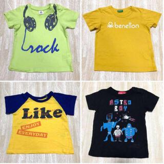 デビロック(DEVILOCK)のTシャツ 4枚セット 半袖Tシャツ 夏 キッズ 80cm 黄色 1歳 12M(Tシャツ)