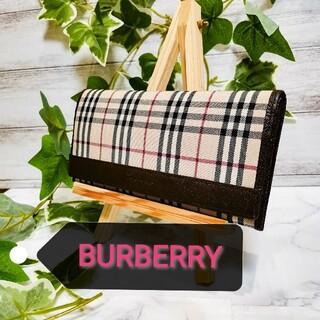 バーバリー(BURBERRY)のバーバリー BURBERRY ノバチェック 長財布 二つ折り(財布)