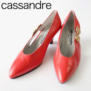 cassandreカサンドレ パンプスヒール6cm 赤レッド レディース(ハイヒール/パンプス)