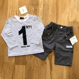 ベベ(BeBe)のBeBe  Tシャツ ハーフパンツ 上下セット(Tシャツ/カットソー)