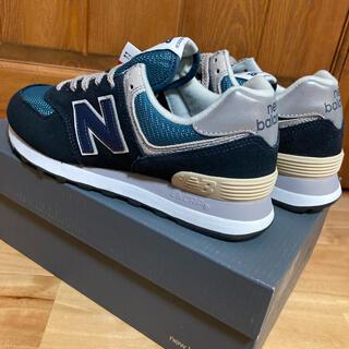 New Balance - 【新品】ニューバランス 574 (ネイビー:23.5cm)