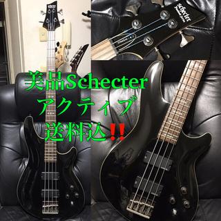 美品Schecterシェクター送料込アクティブ現行モデルBASSベースギター格安(エレキベース)