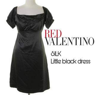 レッドヴァレンティノ(RED VALENTINO)のシルク100%❤️レッドバレンティノ❤️リトルブラックドレス(ひざ丈ワンピース)